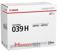 Canon Cartridge 039H Тонер-картридж черный (0288C001)