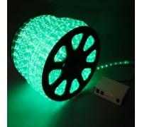 Дюралайт светодиодный круглый 2-х проводной 12V зеленый