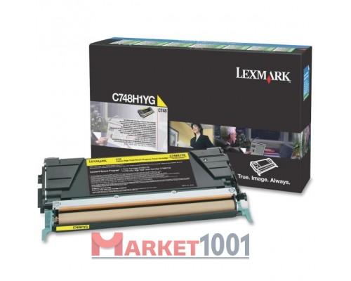 LEXMARK C748H1YG тонер-картридж желтый