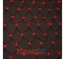 Световая (светодиодная) сеть 2x2 м без контроллера красный. Силиконовый кабель