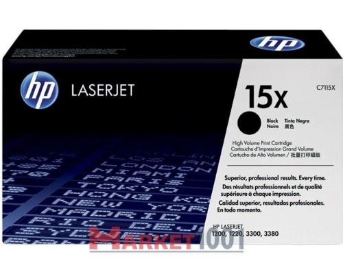 HP C7115X (15X) тонер-картридж черный