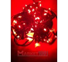 Гирлянда светодиодная Твинкл лайт 10 метров без контроллера красная (резиновый кабель)