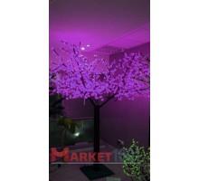 Светодиодное дерево Сакура 3,6x3 м. Фиолетовый