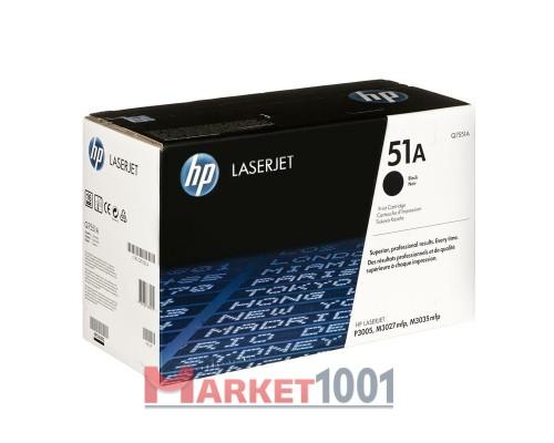 HP Q7551A (51A) тонер-картридж черный
