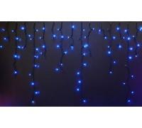 Световая (светодиодная) бахрома 3x0,9 м. мерцающая (FLASH) Синяя. Прозрачный ПВХ кабель.