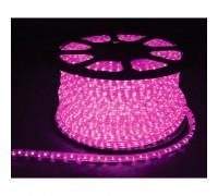 Дюралайт светодиодный круглый 2-х проводной 24V розовый