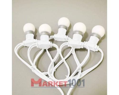 Гирлянда Белт лайт (Belt Light) 2-х проводной белый (50 метров, 125 патронов)