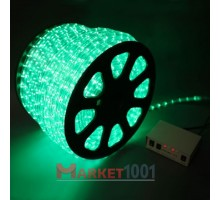 Дюралайт светодиодный круглый 3-х проводной зеленый