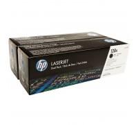 HP CE320AD (128A) тонер-картридж черный двойная упаковка