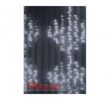 Гирлянда световой светодиодный занавес «Водопад» 2x3 м. С 3-х канальным контроллером белый. (Плей лайт)