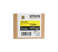 C13T580400 EPSON T5804 Картридж желтый