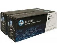 HP Q2612AF (12A) тонер-картридж черный двойная упаковка