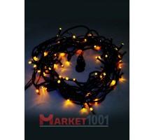 Гирлянда светодиодная Твинкл лайт 10 метров с контроллером желтая (кабель ПВХ)