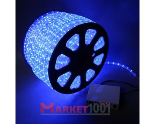 Дюралайт светодиодный круглый 3-х проводной синий