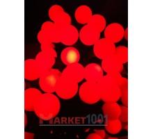 """Светодиодная (LED) гирлянда """"Шарики"""" maxi красные."""