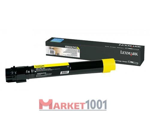 LEXMARK C950X2YG тонер-картридж желтый