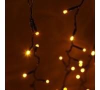Световой светодиодный занавес (дождь) 2x9 м. без контроллера желтый