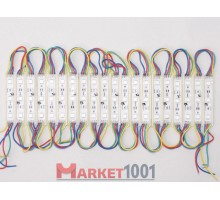 Светодиодный модуль DKB 3SMD 5050 RGB 77,6x15x4,5 мм.