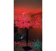 Светодиодное дерево Сакура 3,6x3 м. Красный