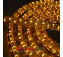 Дюралайт светодиодный плоский 3-х проводной желтый
