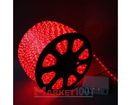 Дюралайт светодиодный круглый 2-х проводной 24V красный