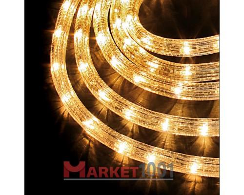 Дюралайт светодиодный круглый 2-х проводной теплый белый