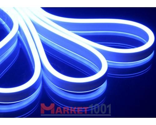 Неон флекс светодиодный гибкий синий двухсторонний