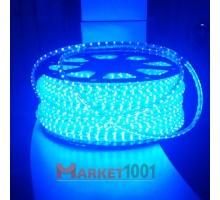 Дюралайт светодиодный плоский 2-х проводной синий SMD