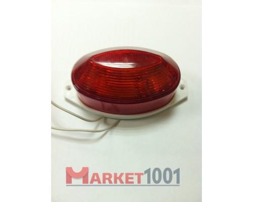 Строб лампа накладная светодиодная красная