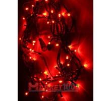 Гирлянда светодиодная Твинкл лайт 10 метров с контроллером красная (кабель ПВХ)