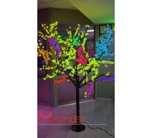 Светодиодное дерево Сакура 1,9x1,5 м. 24V мульти.