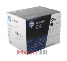 HP CE255XD (55X) тонер-картридж черный двойная упаковка