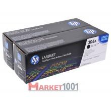 HP CC530AD (304A) тонер-картридж черный двойная упаковка