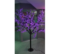 Светодиодное дерево Сакура 1,9x1,5 м. 24V фиолетовый