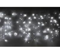 Световая (светодиодная) бахрома 3,5x0,6 м. Белая. Прозрачный кабель ПВХ
