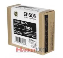 C13T580100 EPSON T5801 Картридж фото-черный