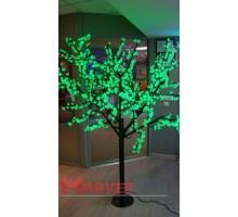 Светодиодное дерево Сакура 1,9x1,5 м. 24V зеленый