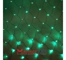 Световая (светодиодная) сеть 2x2 м без контроллера зеленый. Силиконовый кабель