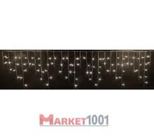 Гирлянда бахрома светодиодная 3x0,5 м. Белая мерцающая (FLASH) Прозрачный ПВХ кабель.