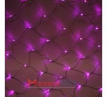 Световая (светодиодная) сеть 2x1 м с контроллером розовый. Кабель ПВХ