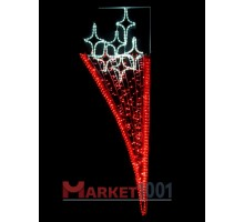 Консоль (мотив) подвесная 2х0,65 м. Красная