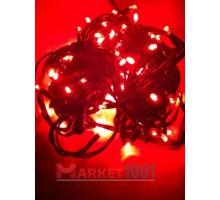 Гирлянда светодиодная Твинкл лайт 10 метров с контроллером красная (резиновый кабель)