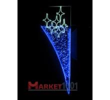 Консоль (мотив) подвесная 2х0,65 м. Синяя