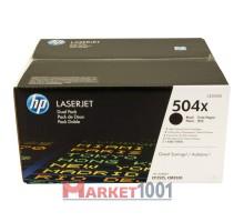 HP CE250XD (504X) тонер-картридж черный двойная упаковка