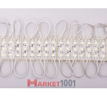 Светодиодный модуль DKB 3SMD 5050 холодный белый 77,6x15x4,5 мм.