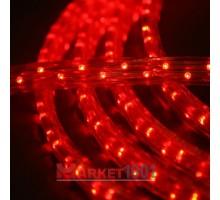 Дюралайт светодиодный плоский 3-х проводной красный