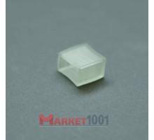 Заглушка для плоского 2W и 3W дюралайта 11x18 мм.