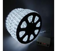Дюралайт светодиодный круглый 3-х проводной белый
