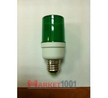 Строб лампа цокольная E27 ксеноновая зеленая