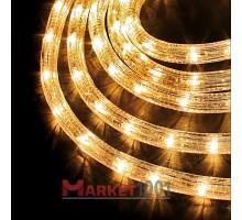 Дюралайт светодиодный круглый 2-х проводной 24V белый теплый